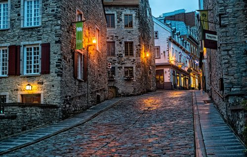 Cobblestone Streets in Old Quebec