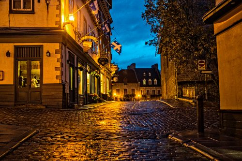 Approaching Dawn in Quebec City