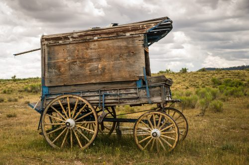Old West Sheriff's Wagon on the Prarie